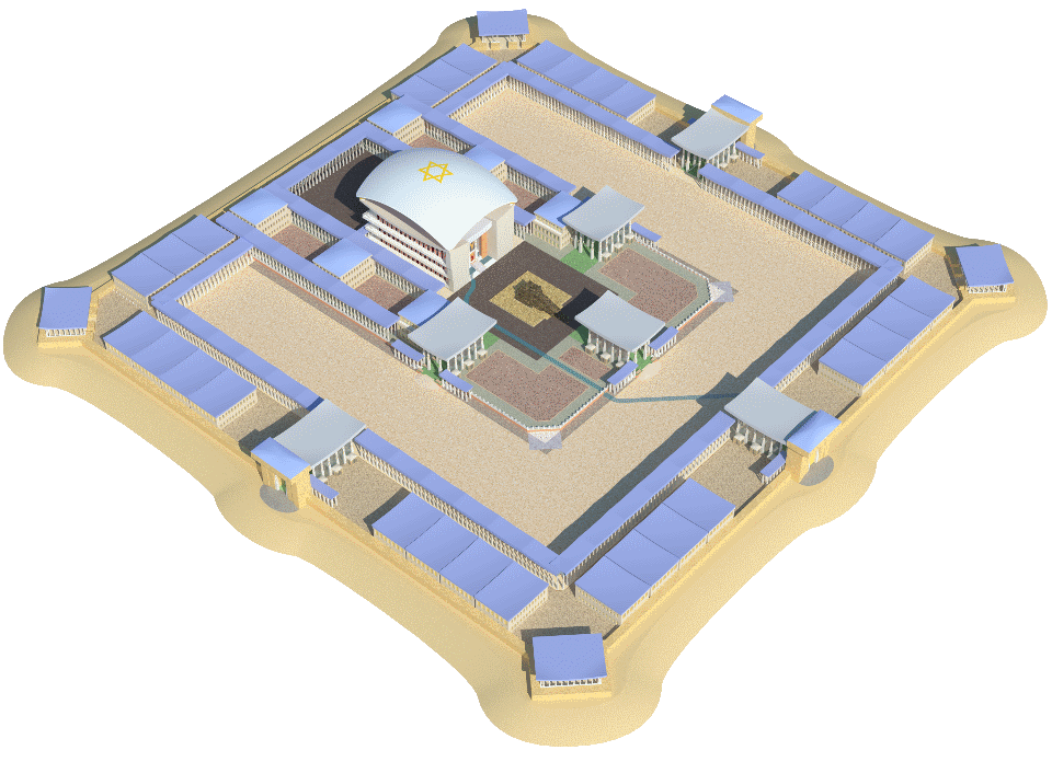 Ezekiel's Temple – The Third Temple in accordance with the prophesy of Ezekiel, 3D model