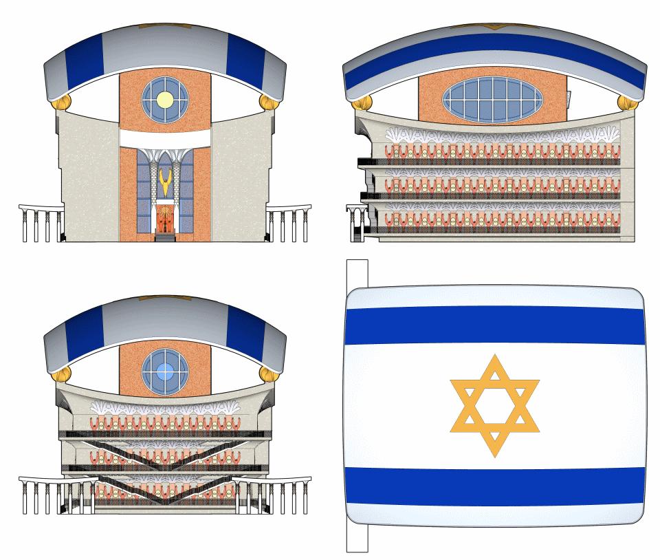 Facades of Ezekiel's Temple.