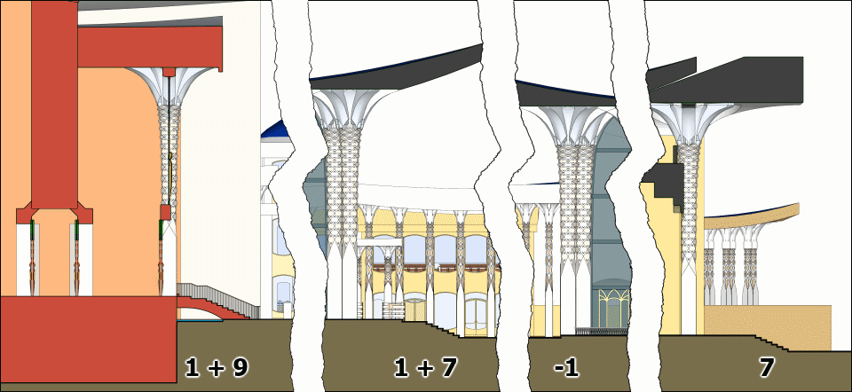 The number of steps on the stairs of Ezekiel's Temple.